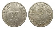 3 Mark Kursmünze 1931 F Weimarer Republik  vorzüglich  308.99 £ 395,00 EUR free shipping