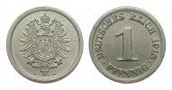 1 Pfennig 1918 A Ersatzmünzen 1. Weltkrieg  besser als vorzüglich  3632.30 £ 4650,00 EUR