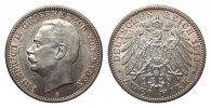 2 Mark Baden 1913 G Kaiserreich  Bildseite vz/St, Adlerseite f.St  386.66 £ 495,00 EUR