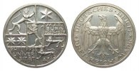 Weimarer Republik 3 Mark Universität Marburg 1927 A wz. Kratzer, poliert... 238.60 £