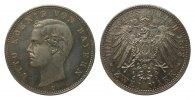 2 Mark Bayern 1893 D Kaiserreich  Bildseite wz. Kratzer, polierte Platte  273.56 £ 325,00 EUR free shipping
