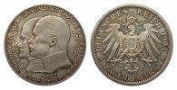 2 Mark Hessen 1904 Kaiserreich  polierte Platte  246.06 £ 315,00 EUR