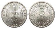 3 Mark Kursmünze 1931 A Weimarer Republik  fast Stempelglanz  464.78 £ 595,00 EUR