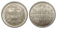 3 Mark Kursmünze 1925 D Weimarer Republik  fast Stempelglanz  386.66 £ 495,00 EUR