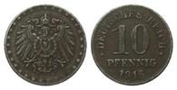 10 Pfennig 1918 D Ersatzmünzen 1. Weltkrie...