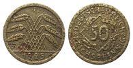50 Reichspfennig 1925 E Weimarer Republik  stark korrodiert, Belegstück  273.40 £ 350,00 EUR