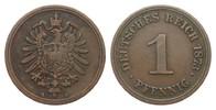 1 Pfennig 1873 A Kaiserreich  knapp sehr schön  199.19 £ 255,00 EUR