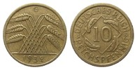 10 Pfennig 1932 G Weimarer Republik  kl. Randfehler, besser als sehr sc... 837.51 £ 995,00 EUR free shipping