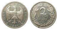 2 Mark 1931 G Weimarer Republik  wz. Kr. u. Flecke, polierte Platte  348.10 £ 445,00 EUR free shipping