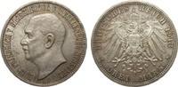 3 Mark Mecklenburg-Strelitz 1913 A Kaiserreich  fast Stempelglanz  1681.85 £ 2150,00 EUR free shipping