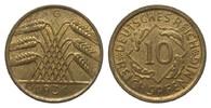 10 Pfennig 1931 G Weimarer Republik  vorzüglich  308.55 £ 395,00 EUR
