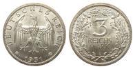 3 Mark Kursmünze 1931 E Weimarer Republik  min. Rf., Adlerseite Kratzsp... 329.16 £ 395,00 EUR free shipping