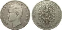 5 Mark Bayern 1888 D Kaiserreich  knapp sehr schön  253.87 £ 325,00 EUR