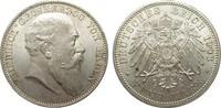 5 Mark Baden 1903 G Kaiserreich  fast Stempelglanz  465.44 £ 595,00 EUR free shipping