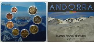 3,88 € 2014  Andorra 1.amtlicher Euro Kurs...