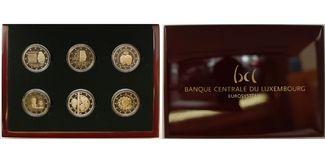 6 x 2 Euro 2015  Luxemburg Sondersatz 6 x ...