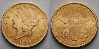 USA 20 $<br> 30,09g<br>fein<br>34 mm Liberty, ohne Münzzeichen, Philadelphia 1899 Gold, (Coronet Head Double Eagle)