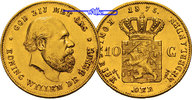 Niederlande 10 Gulden,<br> 6,06g <br> fein <br>22,5 mm Ø  William III, 1849-1890, Gold, -Archivbild-