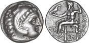Macedon Drachm  Drachme 320-301 BC XF/UNC Antigono