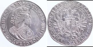 Ungarn RDR Habsburg Taler 1658 Kremnitz kl. SR, Pr
