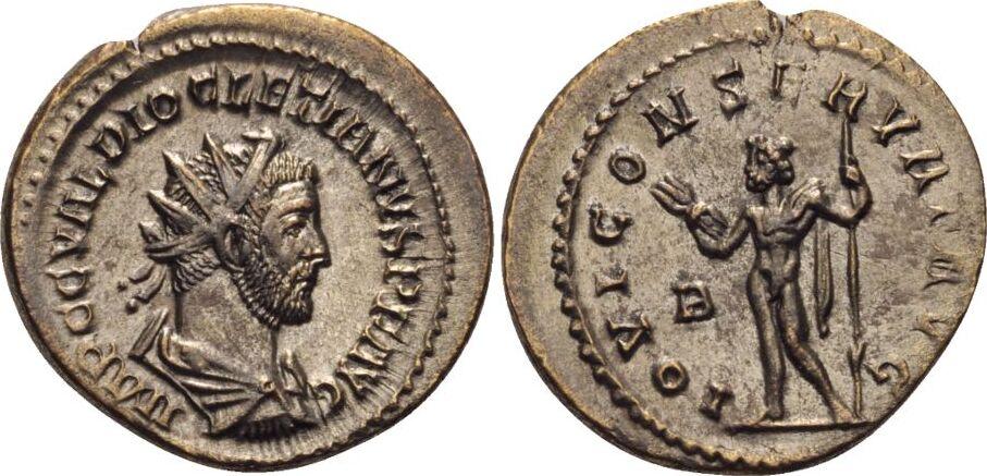 RÖMISCHE KAISERZEIT Antoninian 285-286 n.Chr. Lugdunum