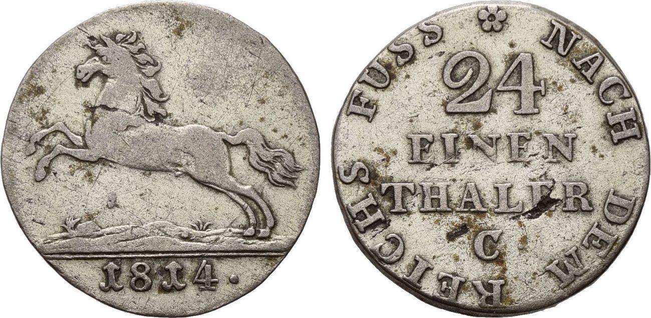 Talerteilstücke 1814-1856, Hannover, Königliche Georgs aus dem Haus  Hannover, 3 Stk , ss bis EF