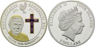 Cook Islands, 5 Dollars 2005-2013, 20 Stk., Box (l