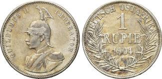 Deutsch-Ostafrika, 1 Rupie 1904 A, ss Kaiserliches