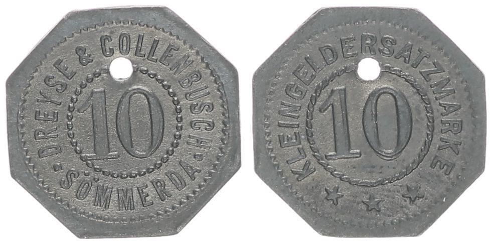 ohne Jahr Sommerda, 10 Pfennig, Dreyse & Collenbusch CH UNC | MA-Shops