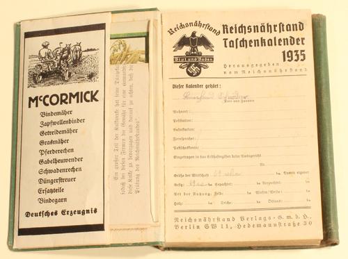 1935 drittes reich reichsn hrstand blut und boden taschenkalender 1935 2 3 ma shops. Black Bedroom Furniture Sets. Home Design Ideas