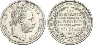 Österreich - Ungarn Gulden 1875 vz Franz Joseph (1