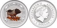 Dollar 2007 Australien Lunar Serie Jahr des Schweins / Year of the pig ... 94.82 £ 110,00 EUR  +  8.53 £ shipping