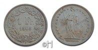 Franken 1905 B Schweiz Helvetia stgl.  258.60 £ 300,00 EUR  +  8.53 £ shipping