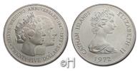 25 Dollar 1972 Cayman Inseln (Cayman Islands) Silberhochzeit stgl.  67.15 £ 75,00 EUR  +  8.86 £ shipping