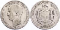 2 Drachmen 1883 A Griechenland Georg I. (1863 - 1913) f.ss, R  94.82 £ 110,00 EUR  +  8.53 £ shipping