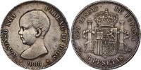 "5 Pesetas 1888 (88) MP-M Spanien ""Alfonso XIII"" f.vz.  102.97 £ 115,00 EUR  +  8.86 £ shipping"