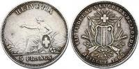 """5 Franken 1863 Schweiz """"Schützentaler La Chaux-de-Fonds"""" ss-vz  241.74 £ 270,00 EUR  +  8.86 £ shipping"""