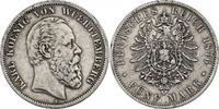 5 Mark 1876 F Deutschland - Württemberg Karl (1864 - 1891) ss  58.20 £ 65,00 EUR  +  8.86 £ shipping
