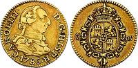 1/2 Escudo 1786 M-DV Spanien Karl III. (1759 - 1788) ss-vz  163.78 £ 190,00 EUR  +  8.53 £ shipping