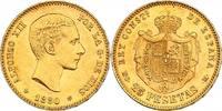 25 Pesetas 1880(80) MS-M Spanien Alfonso XII. (1874 - 1885) vz-stgl.  362.04 £ 420,00 EUR  +  8.53 £ shipping