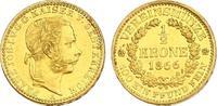 1/2 Vereinskrone 1866 A Österreich - Ungarn Franz Joseph (1848 - 1916) ... 7207.57 £ 8050,00 EUR free shipping