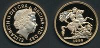 England Elisabeth II, 5£ gold coin, 5 pound 1999 P