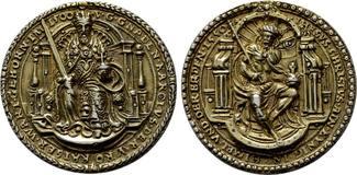 ERZGEBIRGE Silbermedaille 1550 (nach Concz Welcz)