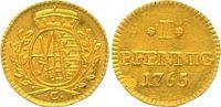 Goldabschlag von den Stempeln des Pfennigs - R 1765 Sachsen, Kurfürsten... 649.58 £ 750,00 EUR  +  10.83 £ shipping