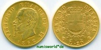 20 Lire 1862 Italien Italien - 20 Lire - 1862 vz/Stg  246.84 £ 285,00 EUR  +  14.72 £ shipping