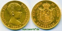 20 Pesetas 1890 Spanien Spanien - 20 Pesetas - 1890 vz  319.60 £ 369,00 EUR  +  14.72 £ shipping