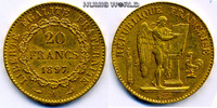 20 Francs 1897 Frankreich Frankreich - 20 Francs - 1897 ss  /  vz  248.57 £ 287,00 EUR  +  14.72 £ shipping