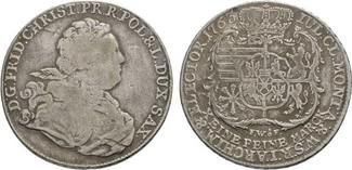 Sachsen-Albertinische Linie Taler 1763 FWoF Dresde