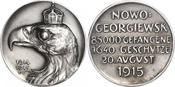 Silbermedaille 1915 Sachsen-Dresden, Stadt Medaillen von Friedrich Wilhelm Hörnlein. Mattiert. Vorzüglich - prägefrisch