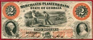USA Georgia 2 Dollars 1859 gebraucht Bild als Erha